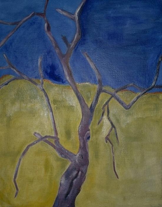 Branches dans les blés