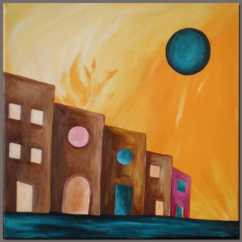 Maisons à la lune bleue © Marie Hurtrel
