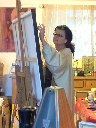 Marie Hurtrel, artiste peintre, Le Blanc 36300