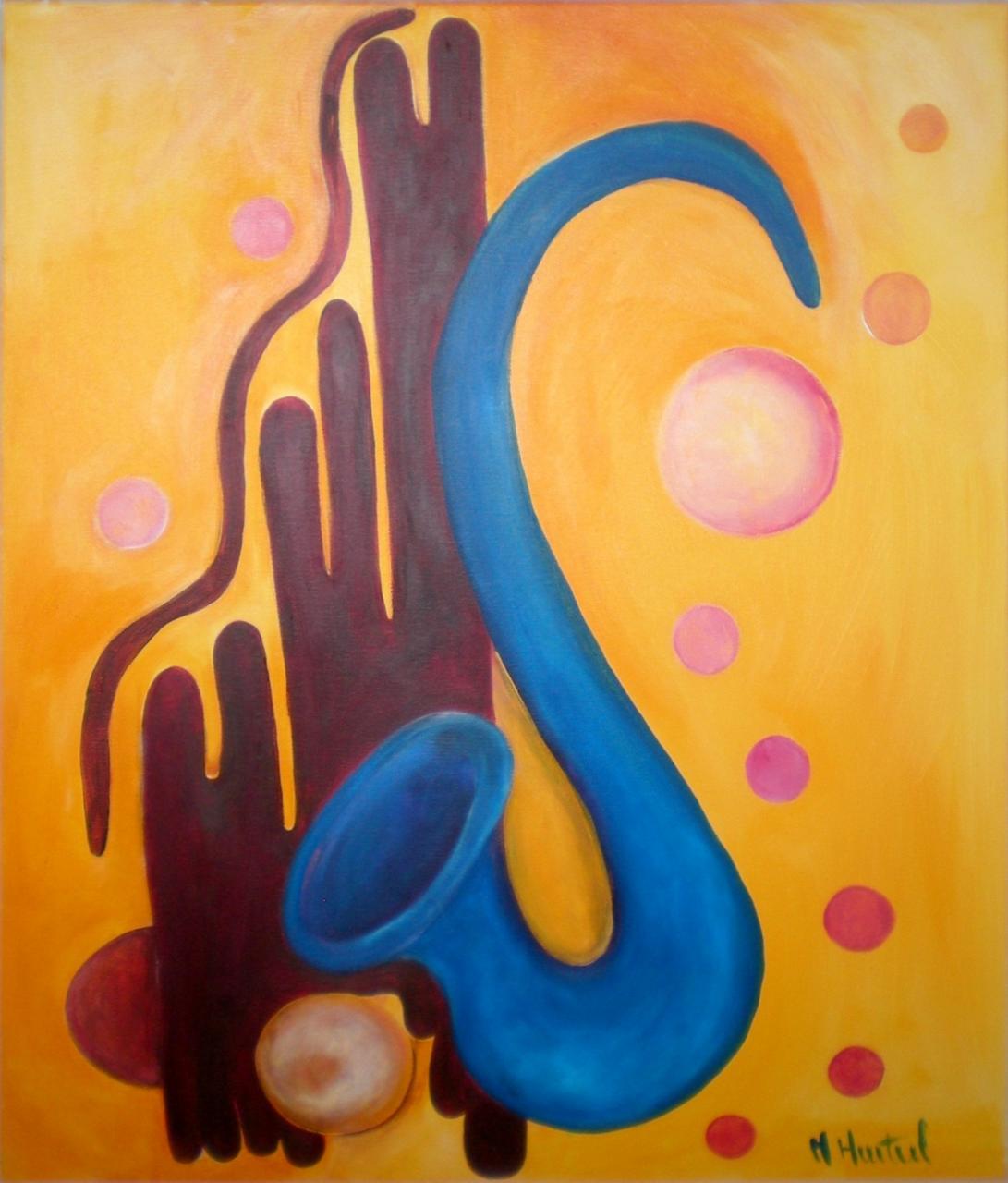 Mon saxo bleu © Marie Hurtrel