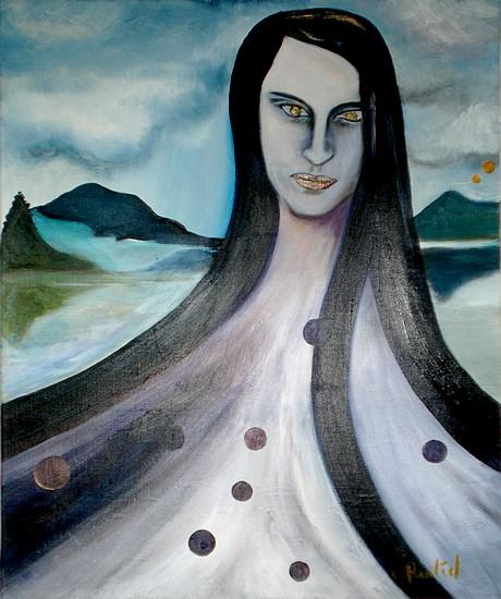 Survie, peinture à l huile de Marie Hurtrel